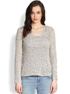 Eileen Fisher Open-Weave Top
