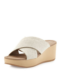 Donald J Pliner Seva Cross Sandal Wedge, Nude