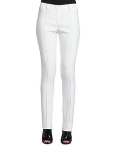 Straight-Leg Center-Seam Trousers   Straight-Leg Center-Seam Trousers
