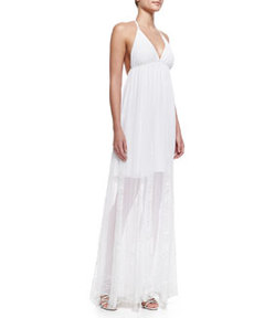 McBain Halter Lace Maxi Dress   McBain Halter Lace Maxi Dress