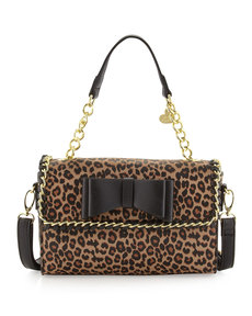 Betsey Johnson Tough Love Pebbled Mini Satchel Bag, Leopard
