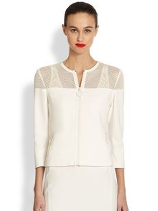 Akris Punto Mesh Top Jacket