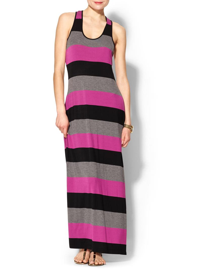 Calvin Klein Bold Stripe Tank Maxi Dress