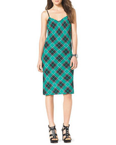 MICHAEL Michael Kors Sleeveless Plaid Slip Dress