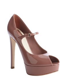 Christian Dior petal patent leather 'Miss Dior' peep toe pumps