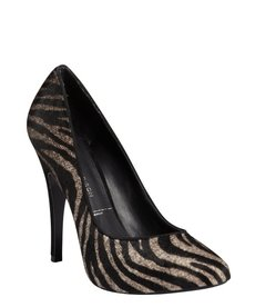 Sigerson Morrison black and grey zebra calf hair 'Loke' platform pumps