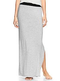 Pure Body slit maxi skirt