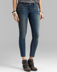 Free People Jeans - Zip Ankle Crop in Kelp