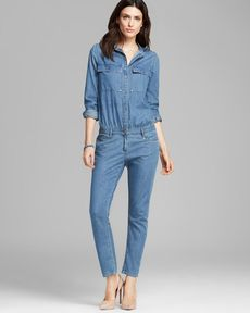 Paige Denim Jumpsuit - Lexie Cuffed Denim