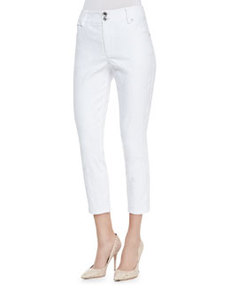 Alice + Olivia High-Waist Skinny-Leg Pants.
