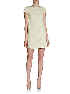 Cynthia Steffe Meena Side-Zip Jacquard Shift Dress
