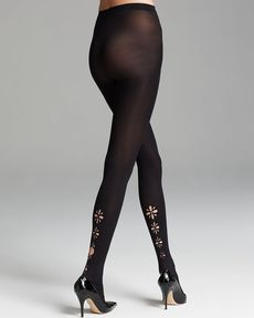 DKNY Tights - Modern Graphics Laser Cutout