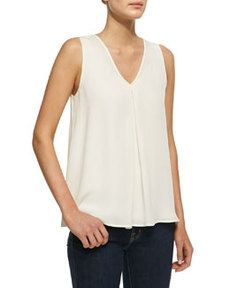 Lesay Double-Georgette Sleeveless Tank   Lesay Double-Georgette Sleeveless Tank