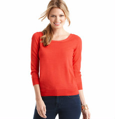 Tie Back 3/4 Sleeve Sweater