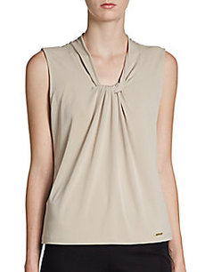 Calvin Klein Twist-Front Knit Top