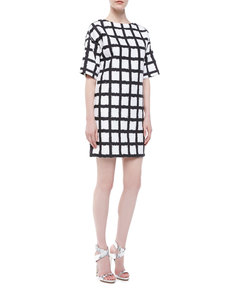 Michael Kors Ikat Broadcloth Shift Dress