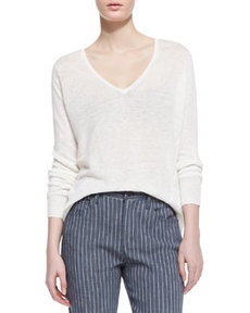 Toberlyn V-Neck Slub Sweater   Toberlyn V-Neck Slub Sweater