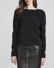 J Brand Ready to Wear Landon Deep-Surplice Top
