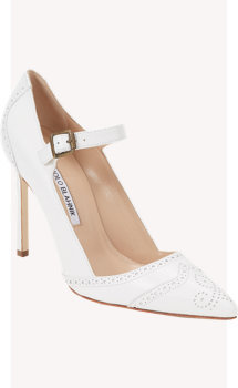 Manolo Blahnik Cabras Mary-Jane Pumps