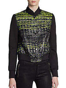 Robert Rodriguez Tweed Zip Jacket