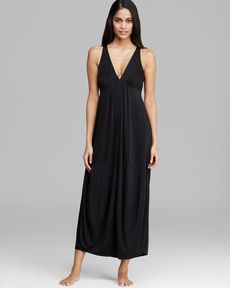 Donna Karan Sleepwear Slinky Knit Sleeveless Long Gown