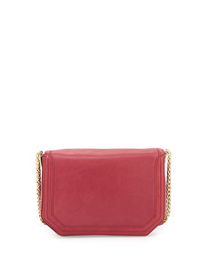 Foley + Corinna Plated-Chain-Strap Flap-Top Shoulder Bag, Lobster