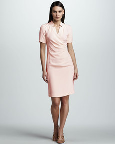 Lafayette 148 New York Surplice Dress