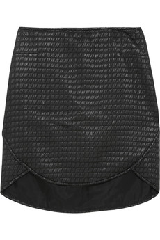 Tibi Paneled jacquard mini skirt