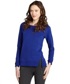 Marc New York indigo cotton stretch split seam pullover