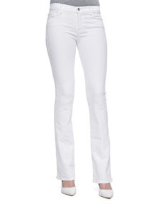 Brooke Slim Boot-Cut Jeans, Blanc   Brooke Slim Boot-Cut Jeans, Blanc