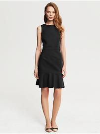 Sleek Suit Flounce Dress
