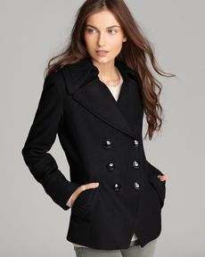 Trina Turk Coat - Emery Double Breasted Knit Trim