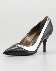 Lanvin Two-Tone Pointed Toe Pump, Black