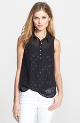 kensie 'Foil Dots' Sleeveless Blouse