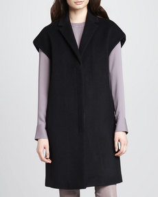 J Brand Ready to Wear Paola Cap-Sleeve Wool Coat