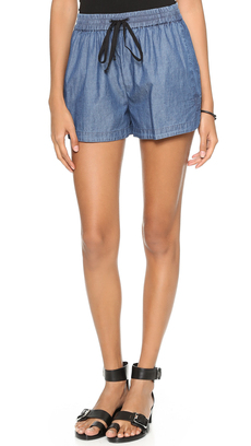 Robert Rodriguez Chambray Track Shorts