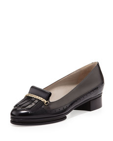 Jason Wu Two-Tone Chunky Kiltie Loafer, Gray/Black