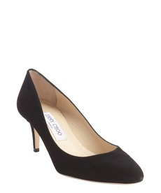 Jimmy Choo black suede leather pumps