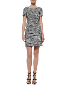 Derek Lam Printed Short-Sleeve Shift Dress