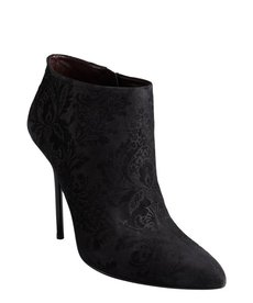 Gucci black brocade leather 'Noah' stiletto booties