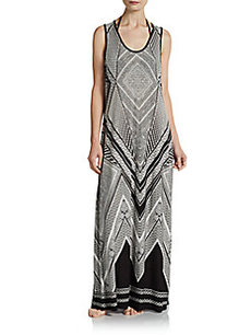 Calvin Klein Swim Printed Maxi Dress Coverup