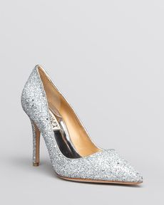 Badgley Mischka Pointed Toe Evening Pumps - Kat High Heel