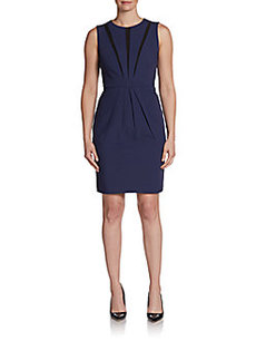 Catherine Malandrino Mesh Panel Sheath Dress