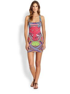 Mara Hoffman Ganesh Jersey Racerback Mini Dress