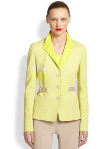 Akris Punto Jersey Stripe Jacket