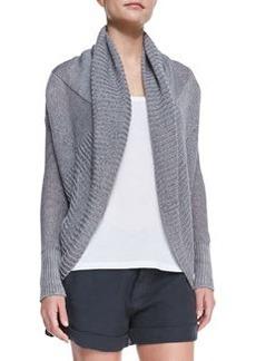 Shawl-Collar Linen Cardigan   Shawl-Collar Linen Cardigan