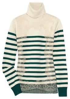 Valentino Striped wool-blend turtleneck sweater