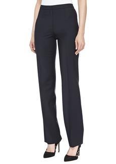 Escada Skinny Wool-Blend Pants, Navy