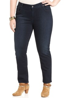 Lucky Brand Plus Size Ginger Straight-Leg Jeans, Boggy Head Wash