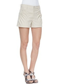 Nanette Lepore Lovie Dovie Gathered Twill Shorts